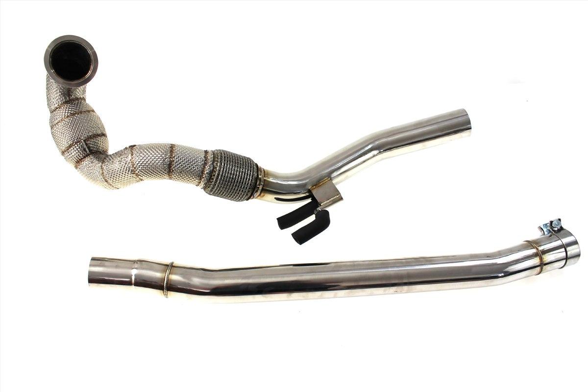 Downpipe AUDI S3 VW GOLF VII R 2.0T + OSŁONA TERMICZNA - GRUBYGARAGE - Sklep Tuningowy